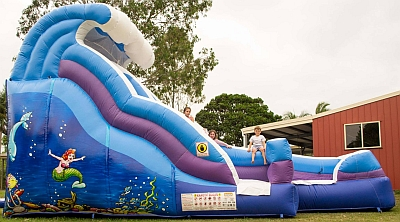 Water Slide & Jumping Castle